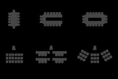 Vergaderzaal opstellingen bij Restaurant 't Binnenhof in Paasloo Overijssel (bij Steenwijk)
