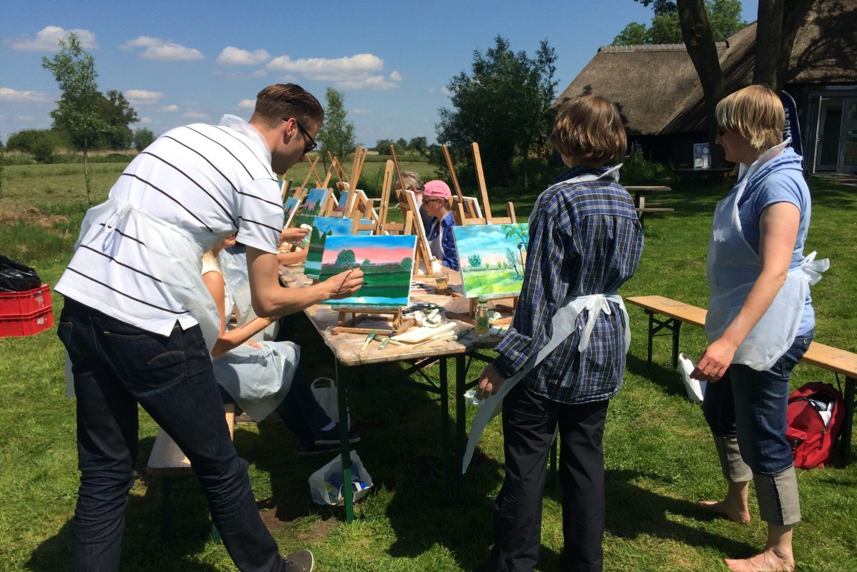 Workshop Schilderen bij Restaurant 't Binnenhof in Paasloo Overijssel (bij Steenwijk)